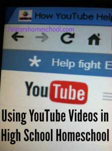 Using YouTube Videos in High School Homeschool