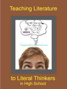 An Authoritative Guide to Literature for Homeschool High School Teaching Literature to Literal Thinkers