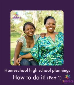 Homeschool high school planning: How to do it! Part 1