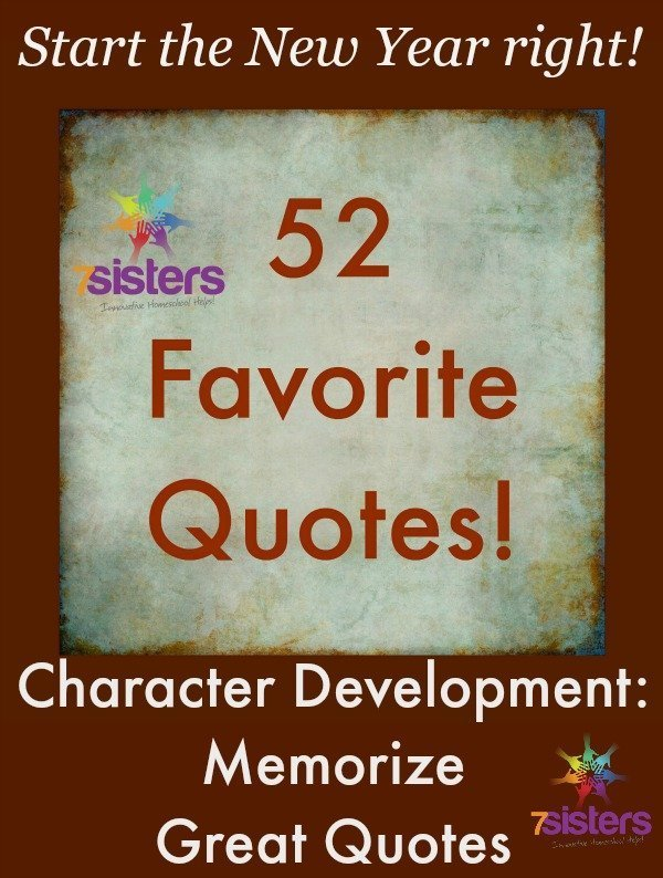 Character Development: Memorize Great Quotes