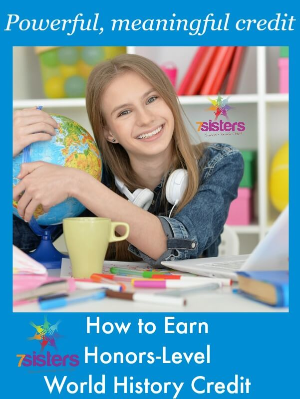 How to Earn Honors Level World History Credit in Homeschool High School