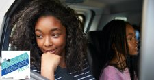 Homeschool Highschool Podcast Ep 127: Being African-American and Homeschooling. This photo show a family in their car on a road trip.
