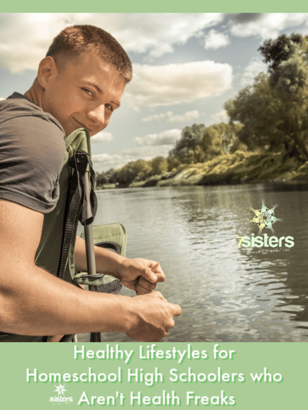 Healthy Lifestyles for Homeschool High Schoolers who Aren't Health Freaks. Lots of teens don't get excited about living healthy lifestyles. Junkfood-eating and coach-potato exercising are more fun. Here are tips for health when teens don't enjoy healthy behaviors. 7SistersHomeschool.com