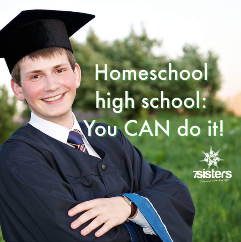 Homeschool high school: You CAN do it! 7SistersHomeschool has a wealth of information on how to homeschool high school so that you can educate your teen in the best way for their needs and goals.