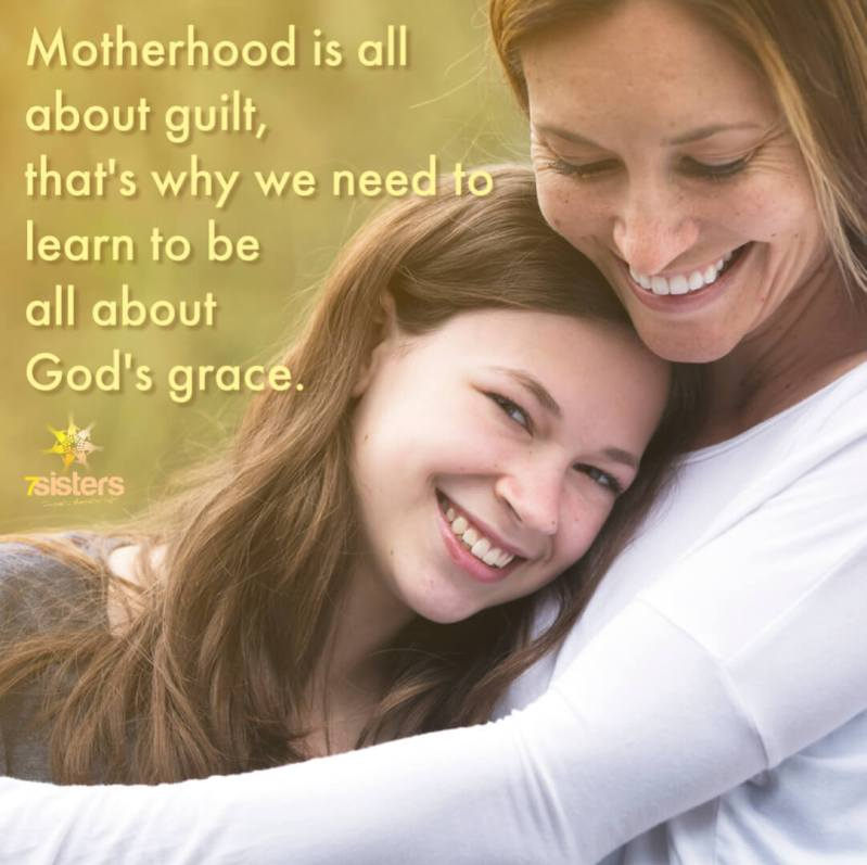 Support for homeschool moms. Learn from this quote: Motherhood is all about guilt, that's why we need to learn to be all about God's grace.