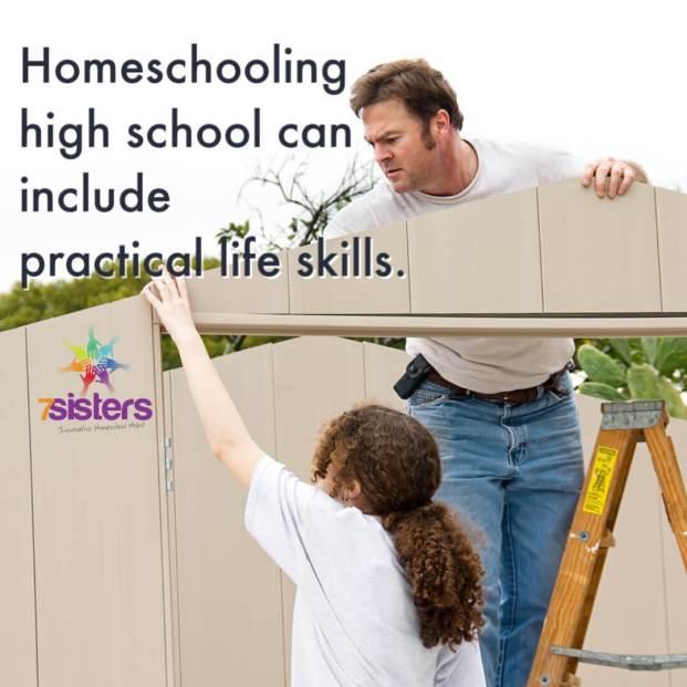 Homeschooling high school can include practical life skills.