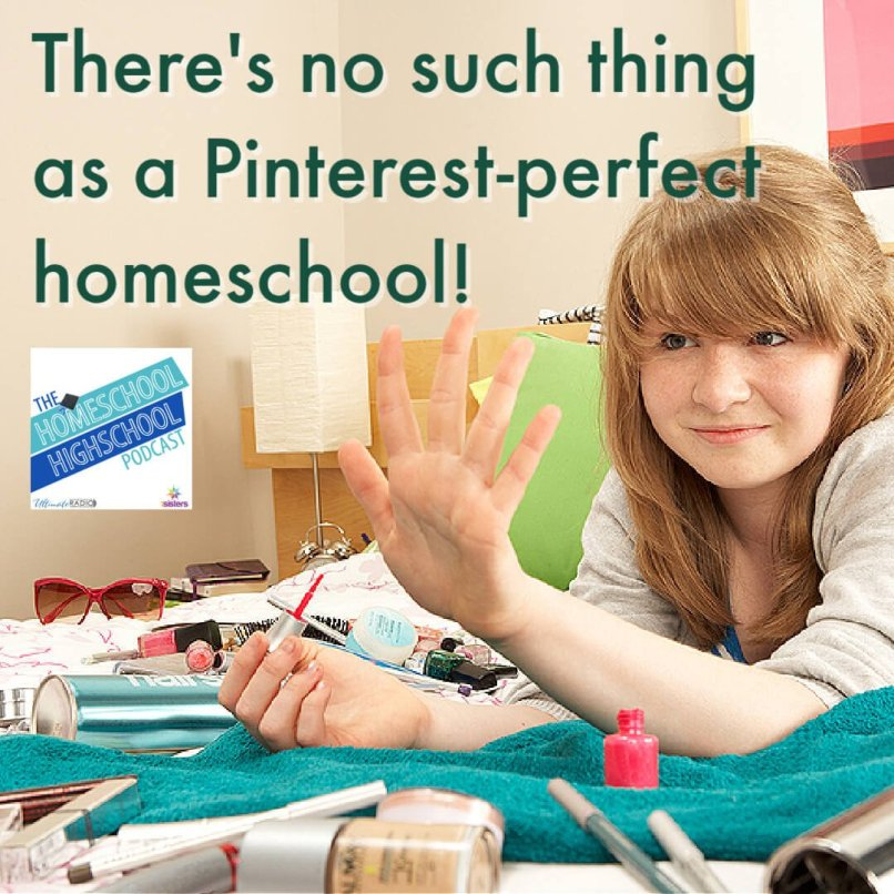 There's no such thing as a Pinterest-perfect homeschool