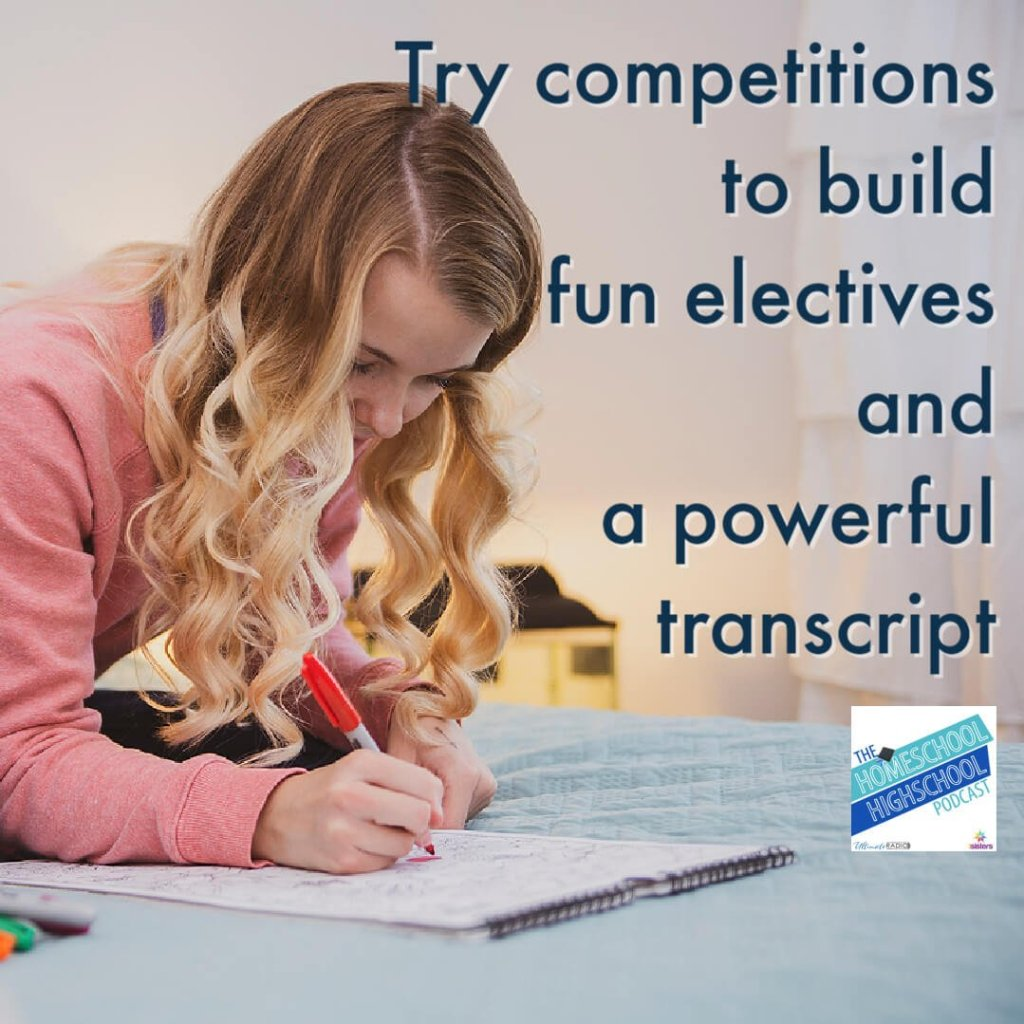 Try competitions to build fun electives and a powerful transcript