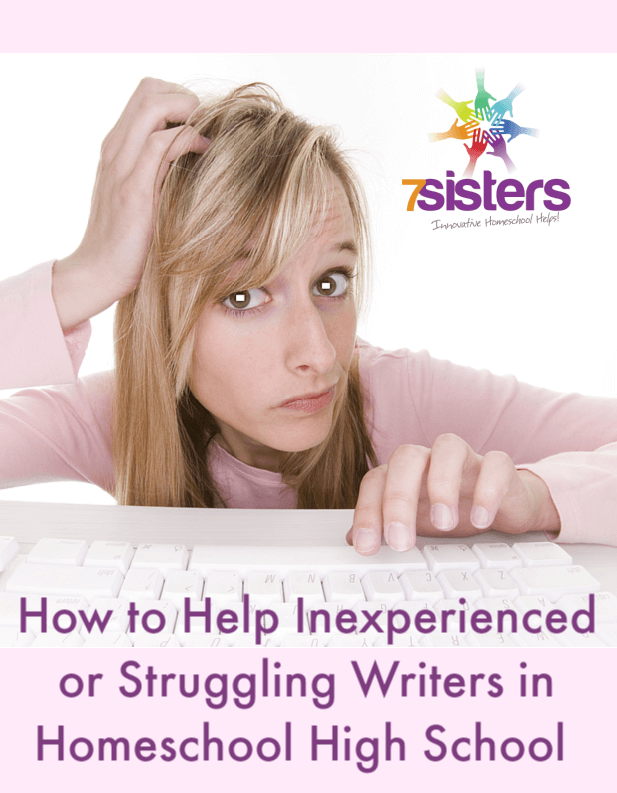 How to Help Inexperienced or Struggling Writers in Homeschool High School
