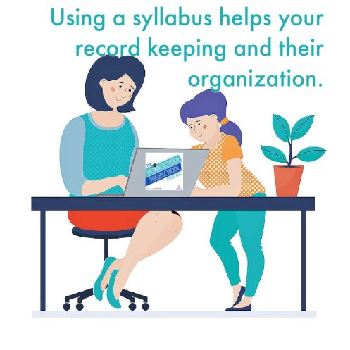 Using a syllabus helps your record keeping and their organization.