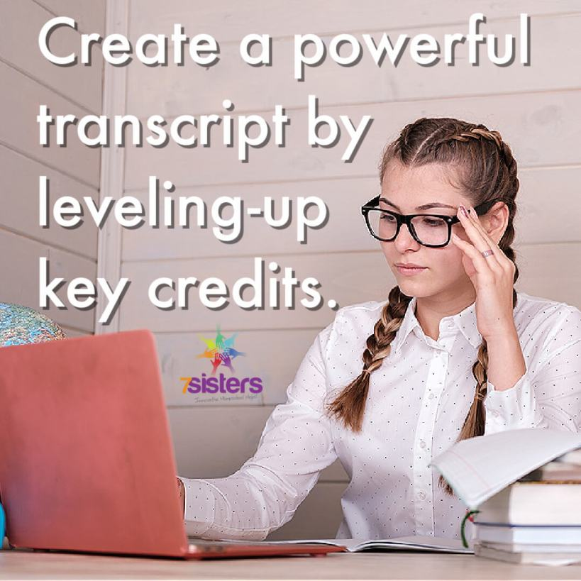 Create a powerful transcript by leveling-up key credits
