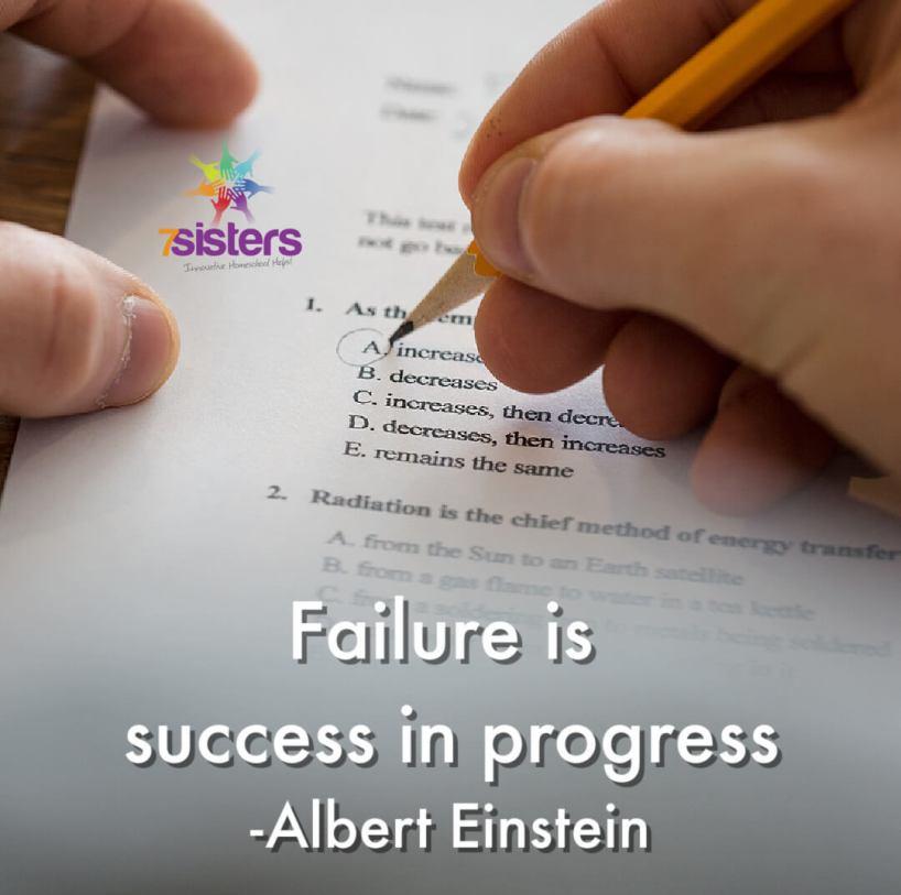 Failure is success in progress. - Albert Einstein