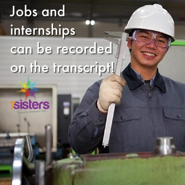 Jobs and internships can be recorded on the transcript!