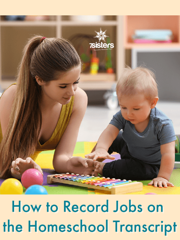 How to Record Jobs on the Homeschool Transcript