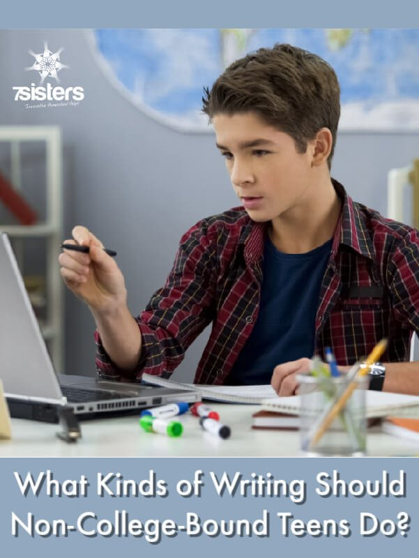 What Kinds of Writing Should Non-College-Bound Teens Do? Homeschool high school tips and guidelines for workforce-bound or special needs teens.
