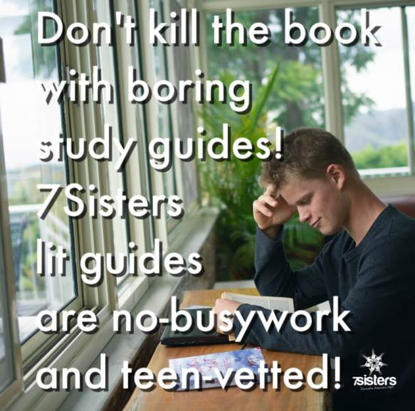 Don't kill the book with boring study guides! 7Sisters lit guides are no-busywork and teen-vetted!
