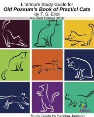 Old Possums Book of Practical Cats Literature Guide