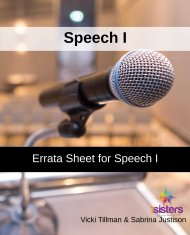 speech I errata sheet