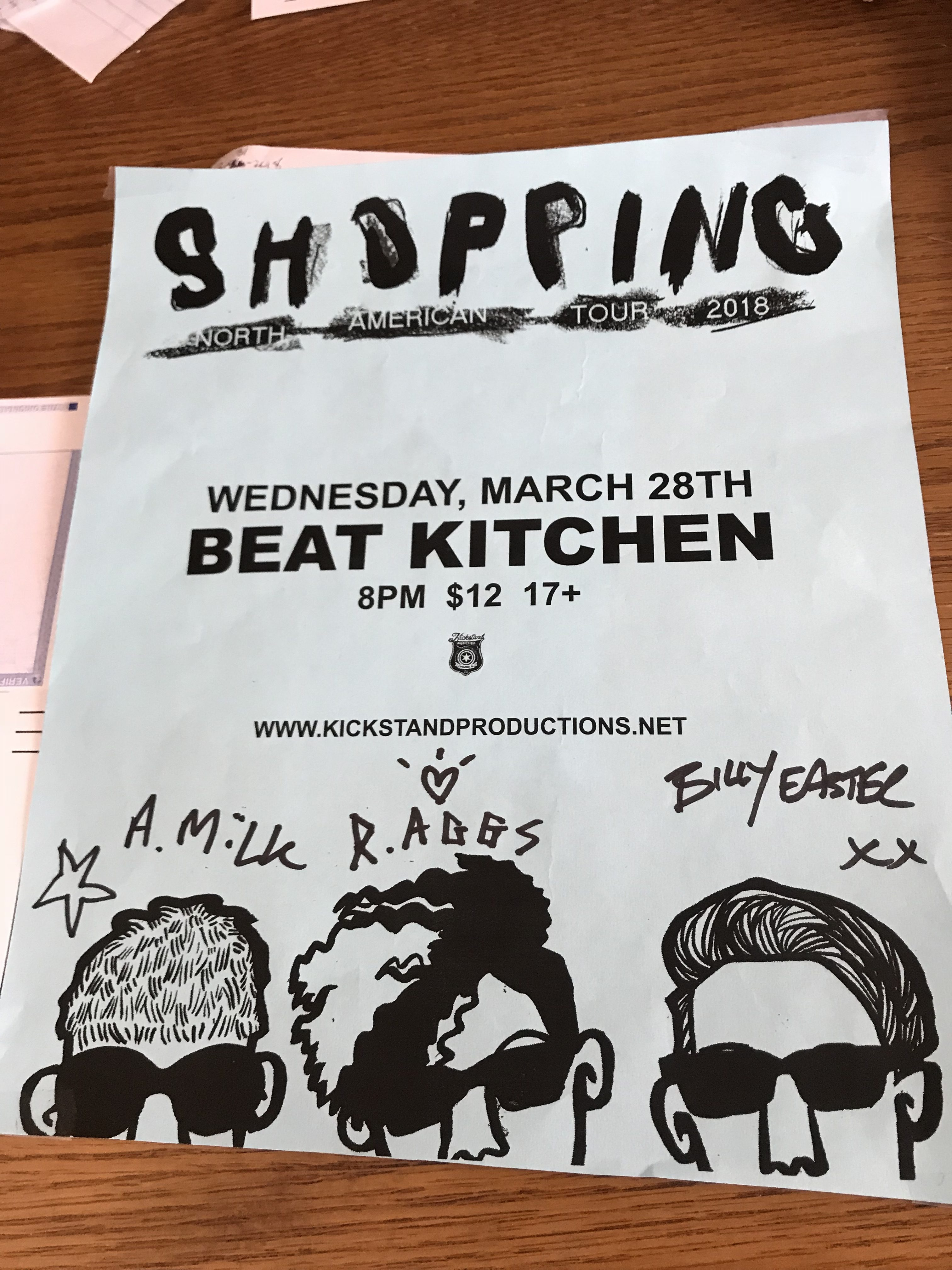 Live: Shopping, Tyvek, and Ganser – Chicago, IL – March 28, 2018 ...