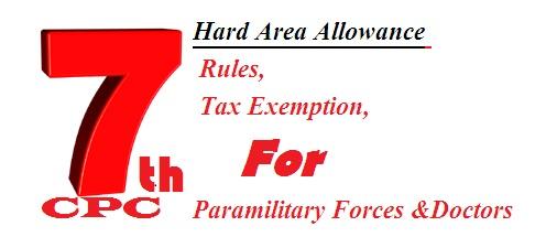 Hard Area Allowance Rules Tax Exemption
