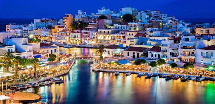 Crete at night