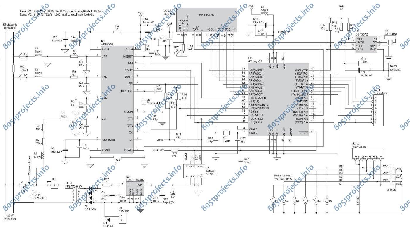 kilowatt hour meter wiring diagram 1997 nissan maxima radio avr ade7759 based watt free