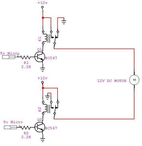 dc motor control using relay