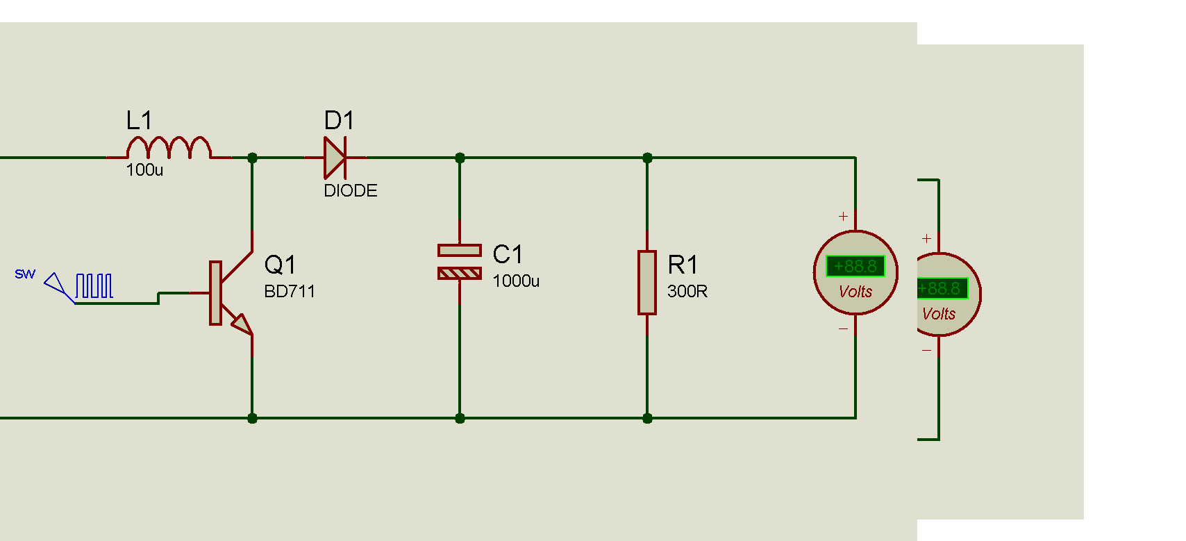 Step Up 6v To 9v 12v Dc To Dc Regulator Circuit Schematic Diagram