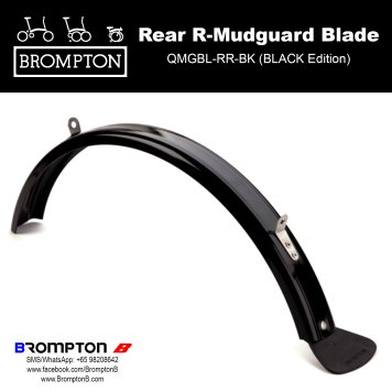 mudguard. reflector rollers inc NEW BROMPTON COMPLETE RACK SET Silver