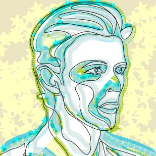 Portrait of David Bowie
