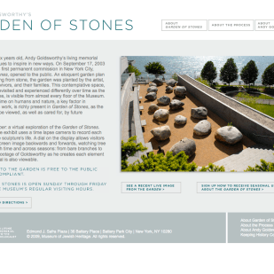 Permanent Installation Website for Museum of Jewish Heritage