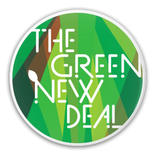 """""""The Green New Deal"""" Button for Creative Action Network"""
