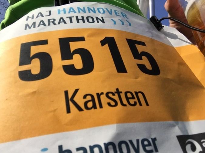 Startnummer HAJ Hannover Marathon 2017