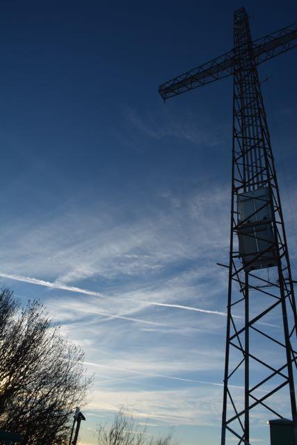 Das Gipfelkreuz des Canto Alto