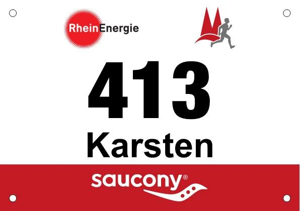 Startnummer 413 RheinEnergie Marathon Köln