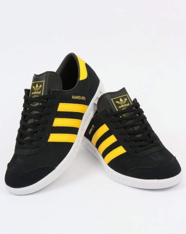 Adidas Hamburg Trainers BlackYellowWhiteoriginalsshoes