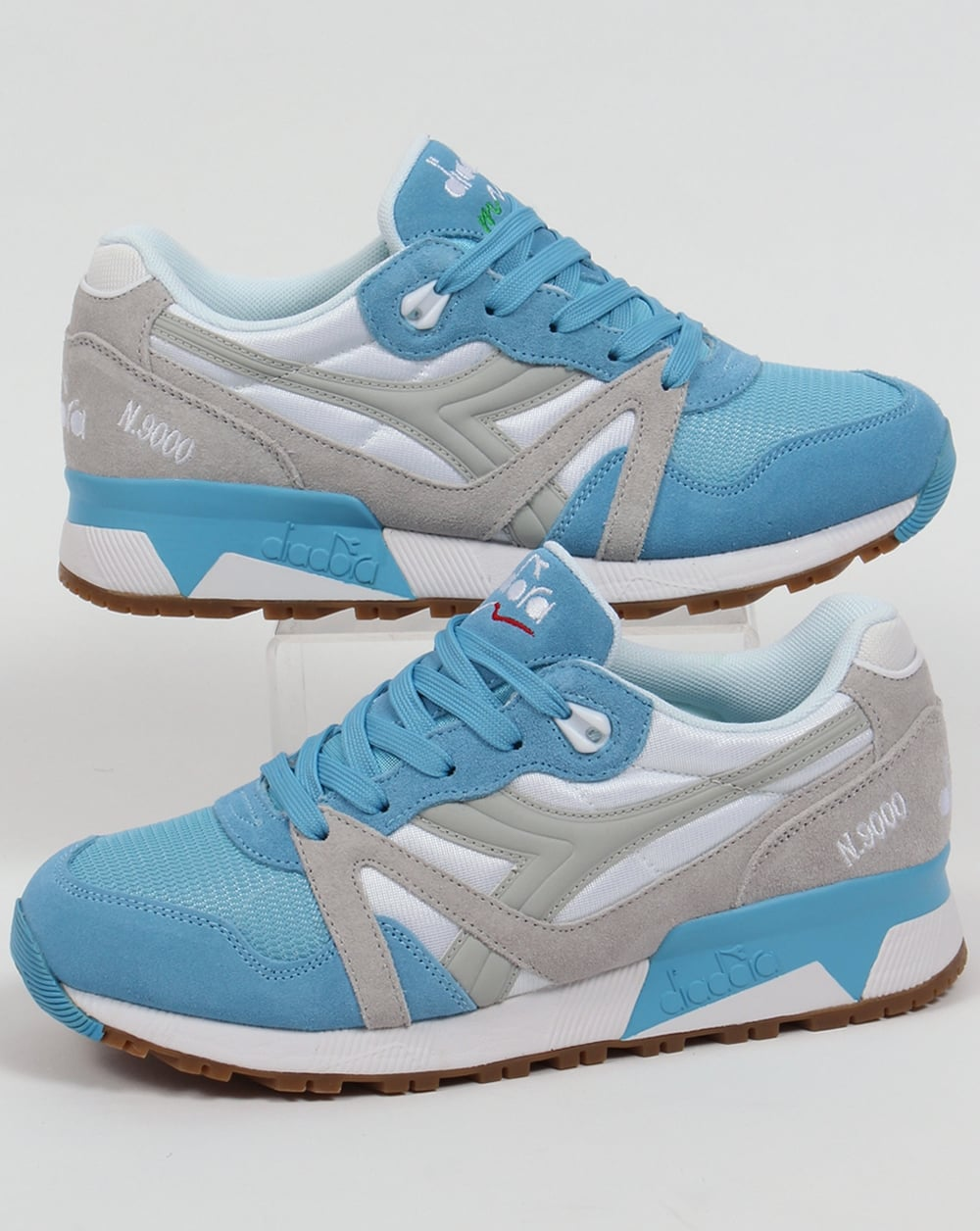 Diadora N9000 NYL Trainers Blue Grotto/Lunar Rock .shoes.sneakers.mens