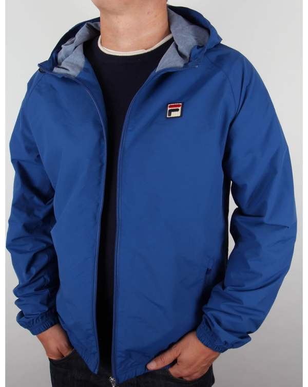 Hooded Full Zip Jacket Italia Blue