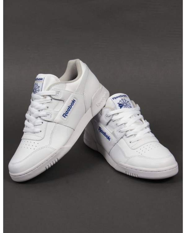 Reebok Workout Trainers White Shoes Leather Sneakers