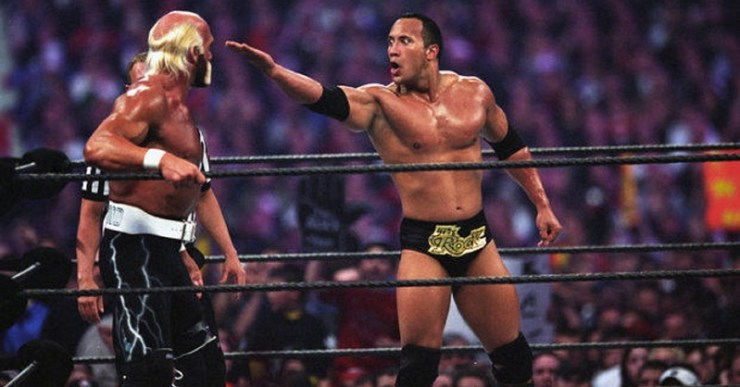 Hulk Hogan The Rock Wrestlemania