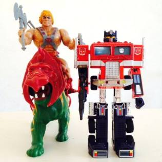 Masters Of the Universe Battle Cat He-Man Optimus Prime