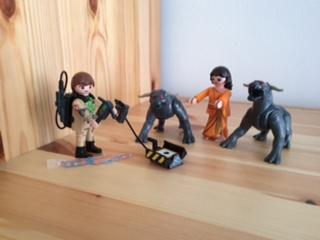 Peter Venkman, Dana Barrett and Terror Dogs Playmobil