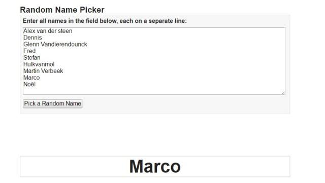 Random Name Picker