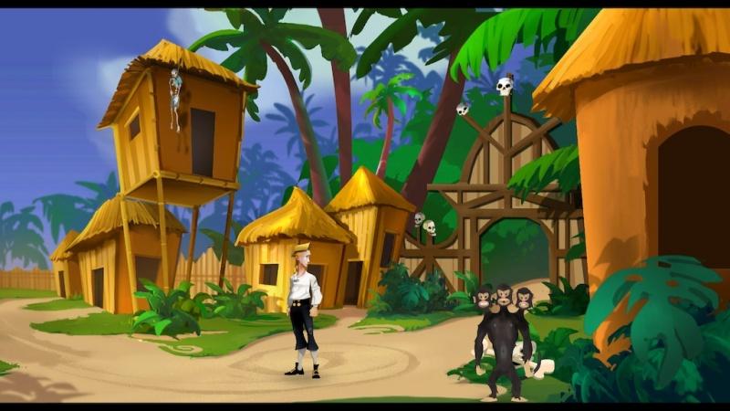 Monkey Island Three Headed Monkey point and click