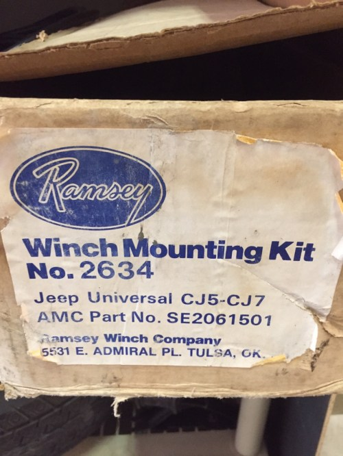 small resolution of below is an ad from the 1980s for the ramsey 2000 2001 winch the mount shown is the standard not the lightweight mount