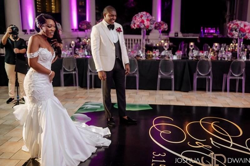 Black Custom Dance floor for Wedding