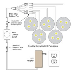 Light Wiring Diagram Multiple Lights Vauxhall Corsa C Fuel Pump Dc Led Diagrams Schematic In Series 4 88light Dimmable