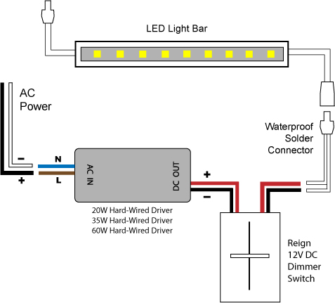 Caravan Mains Wiring Diagram 88light Reign 12v Led Dimmer Switch Wiring Diagrams