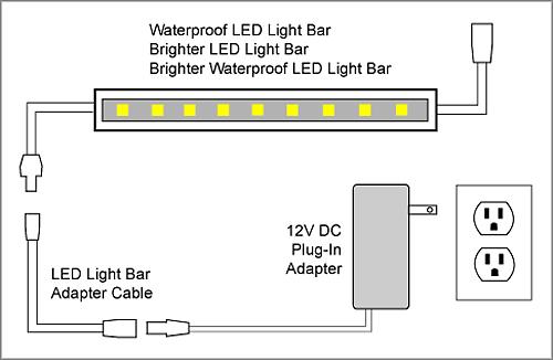 led light wiring diagram,
