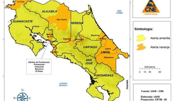 Aumento de casos COVID-19 ocasiona que 6 cantones pasen a alerta naranja